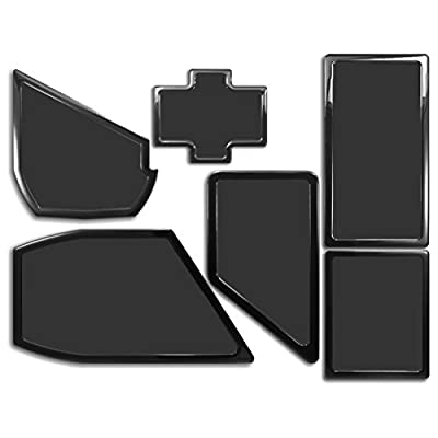 DEMCiflex Dust Filter Kit for NZXT Phantom 530 (6 Filters), Black Frame, Black Mesh by DEMCiflex