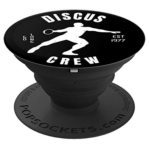 Mens Athletics Discus Crew Grip: Athlete Gifts - PopSockets Grip and Stand for Phones and Tablets