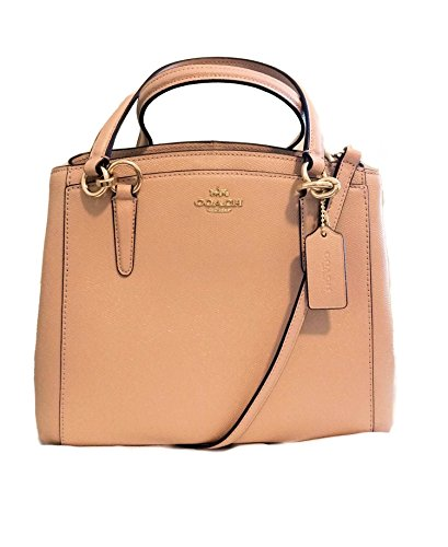 Coach Minetta Crossbody Handbag Crossgrain Leather Glitter Nude ()