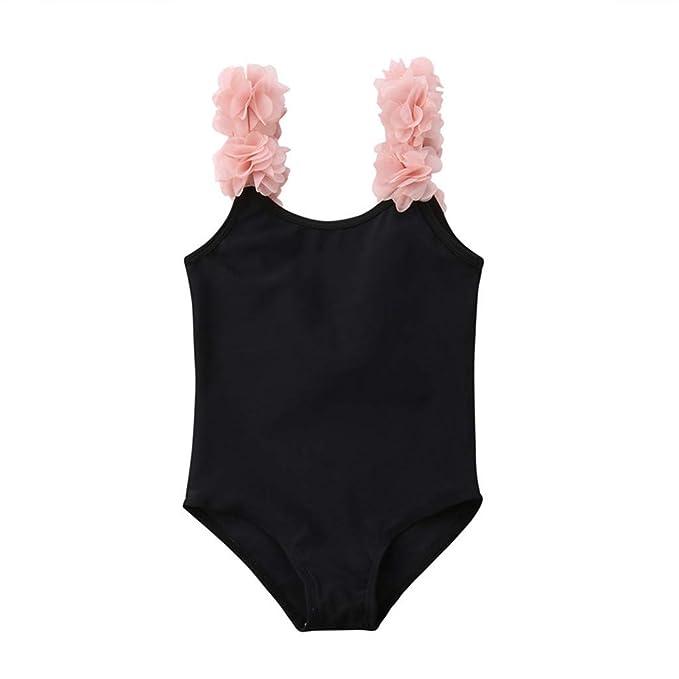 3cdb41be186e Bañador de Natación de una Pieza para Bebé Niñas, Bebes Niñas Infantil  bañador de Piscina Monokini Traje de baño