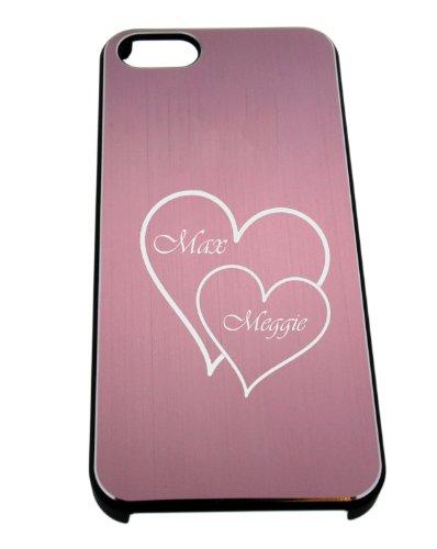 Rigida in alluminio per iphone 5 rosa con diamanti