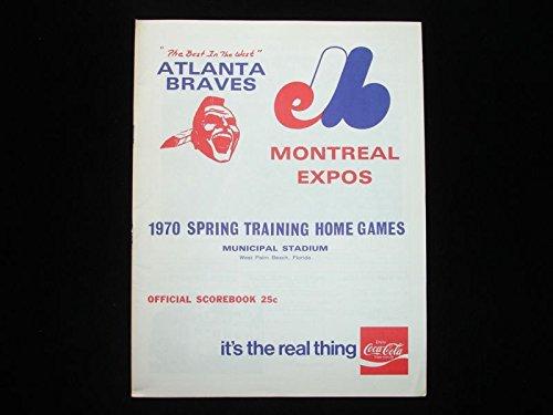 1970 Atlanta Braves Spring Training Program - Unscored - Vs. Montreal Expos