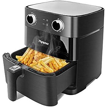 Air Fryer 5.8Qt, Phyismor Air Fryer Oven Oillness Cooker with Temperature & Timer Control, Aluminum Fryer Bakset, Dishwasher Safe ...