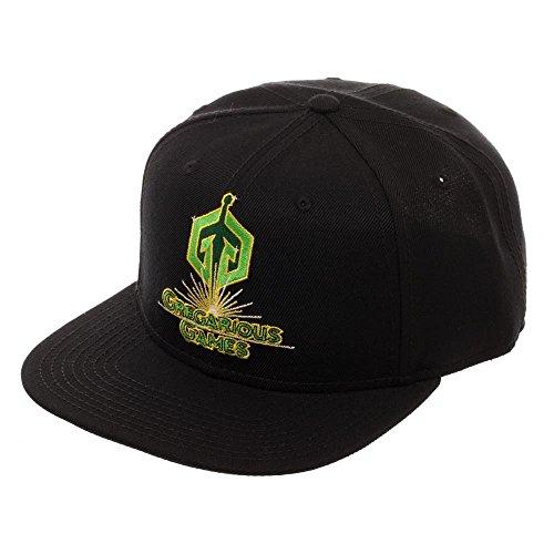 Biworld Ready Player One gregarious Games Snapback, Black Acrylic Wool Ballcap Dad Hat, Oasis Gamer Gift (Wool Player)