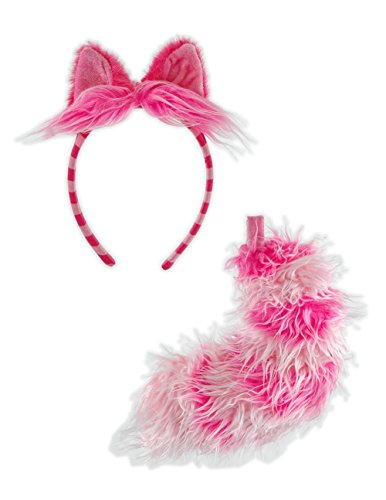 Elope Alice In Wonderland Cheshire Cat Ear and Tail Set - Cat Costumes Alice In Wonderland