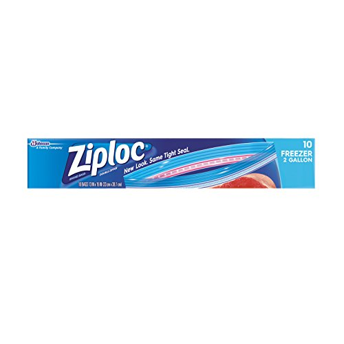 Ziploc Freezer Bags Two Gallon 10 ct