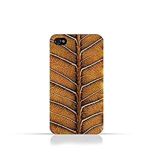 Iphone 4 / Iphone 4s TPU Silicone Case With Natural Dried Leaf
