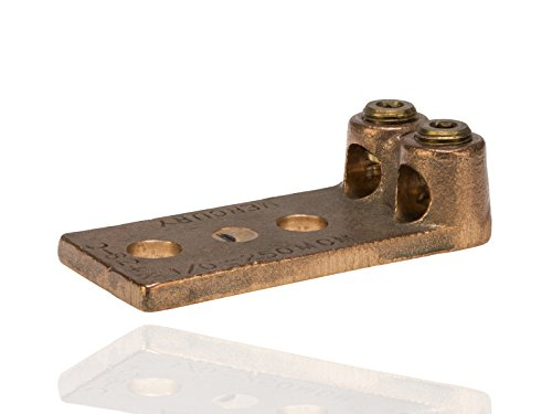 Split Bolt, Post and Tap Connector, Type TL Copper and Cast Bronze Terminal Lug, 4/0 str - 300 MCM Wire Range, 1/2'' Bolt Hole Size, 2 Holes, 500 Amp Nec, 1.938'' Width, 1.125'' Height, 4.375'' Length by NSi Industries, LLC