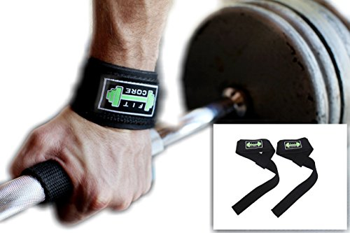 Premium WeightLifting Straps/Wrist Support- Neoprene Padded Lifting Strap