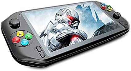 Amazon Com Rs 18 7 Inch Hd Lcd Screen Handheld Game Console Dual Rocker Portable Video Games Hdmi Out Put Compatible With 19 Emulators Support Music Video Camera With 32g 64g Memory Toys Games