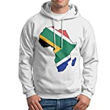 NWYYZDD Men's South Africa Flag in Africa Map Patterns Print Athletic Pullover Tops Fashion Sweatshirts