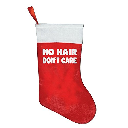 Christmas Stockings Decor No Hair Don't Care Red Felt Festival Party Ornaments (Snoopy Pregnant Costume)