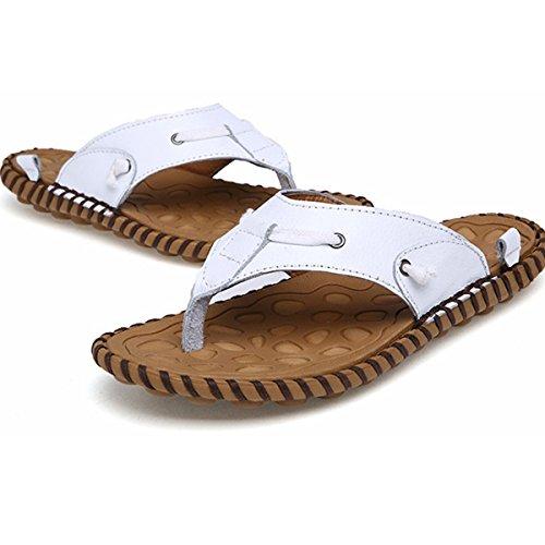 Sandali Di Tendenza Sandali Di Tendenza Di Marca Maschile Estate Nuovo 2016 Sandalo Da Spiaggia In Vera Pelle Sandalo Bianco