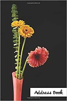 Address Book.: (Flower Edition Vol. F16) Pink And Yellow Daisy Flower Cover Design. Glossy Cover, Large Print, Font, 6