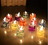 BANSURI Multicolour Mini Dark Gel Candle Combo for Decoration - Set of 12