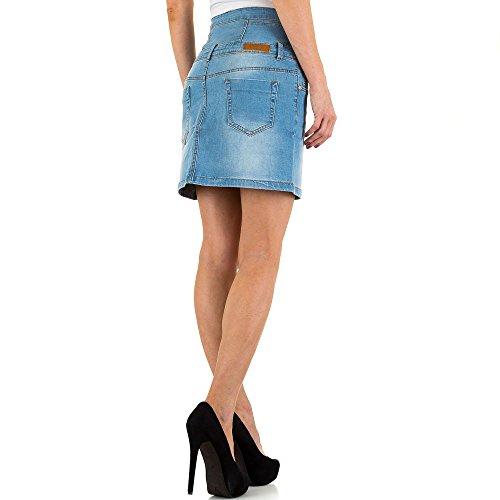 Used Look Jeans Rock Für Damen , Blau In Gr. 38 bei Ital-Design