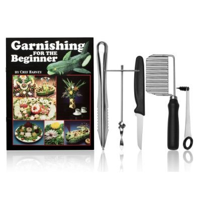Chef Harvey Garnishing for the Beginner, Book and Five Tools Harvey Rosen Keffier V. Adkins Jeff Martin 4400