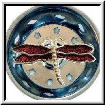 1 X Enamel Kitchen Strainer Red Glitter Dragonfly ()