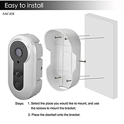 Video Doorbell Camera WiFi Wireless Outdoor Home Security Camera PIR Motion Battery Powered