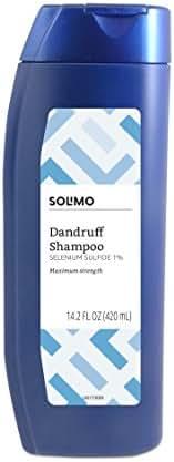 Amazon Brand - Solimo Advanced Solution Dandruff & Seborrheic Dermatitis Shampoo, Maximum Strength, 14.2 Fluid Ounce