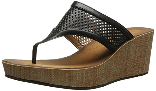 Clarks Women's Avaleen Ocean Wedge Sandal Black rz3Lp8kF