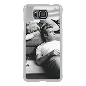 James Dean And Marilyn Monroe 1 White New Style Custom Samsung Galaxy Alpha Cover Case