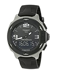 Tissot Men's T0814209705701 T-Race Touch Analog-Digital Display Swiss Quartz Black Watch