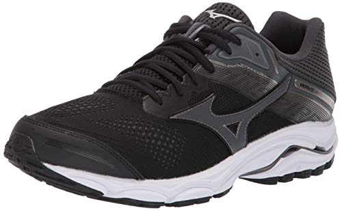 Mizuno Men's Wave Inspire 15 Running Shoe, Black-Dark Shadow 14 D US