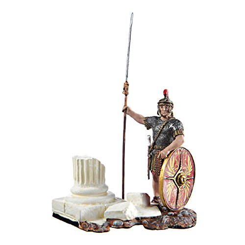 (Tin Toy Soldier Roman at the column hand painted metal sculpture miniature figurine 54mm)