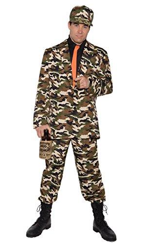 Underwraps Men's Plus-Size Bayou Beau, Camo/Black/Orange, XX-Large]()