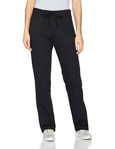 Fruit of the Loom Women's Essentials Live in Open Bottom Pant, Black, Large