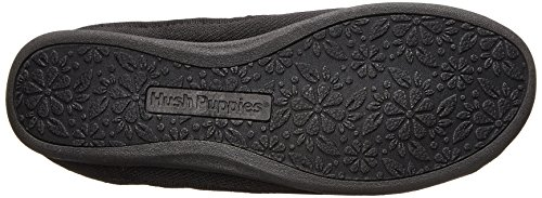 Hush Puppies Women's Tassel Ballet Flat,Black,8 M US