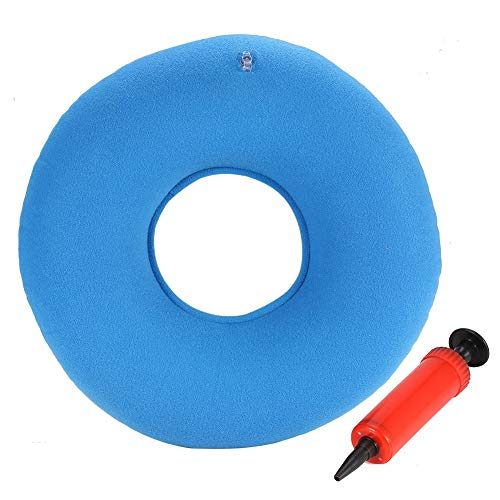 Yuniroom 3Colors New Inflatable Round Chair Pad Hip Support Hemorrhoid Seat Cushion with Pump (Color : Blue) ()
