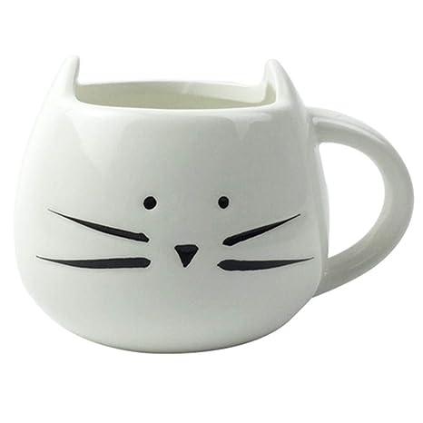Mug Christmas Lovely Milk Cup Cat Best 300ml Little Birthday Cute Coffee Gift Ceramic Moyishi White PiXZuOk