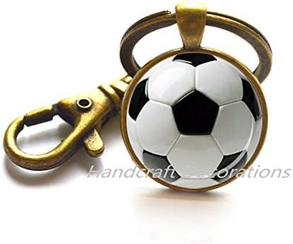 Fútbol llavero llavero de balón de fútbol deporte llavero deportes ...