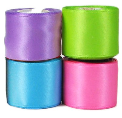 Gingham Satin Ribbon - Ribbon, Hipgirl Double Face Satin Ribbon, For Gift Package Wrapping, Hair Bow Clips & Accessories Making, Crafting, Sewing, Wedding Decor-4x5yd 1.5