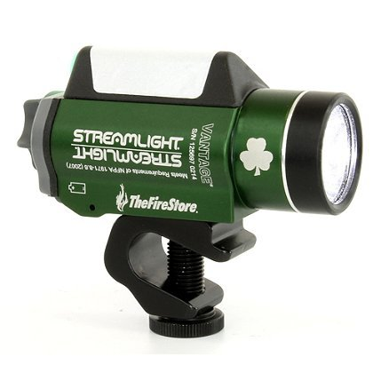 Streamlight Green Vantage - Exclusive Shamrock Green - Clamp Streamlight Helmet