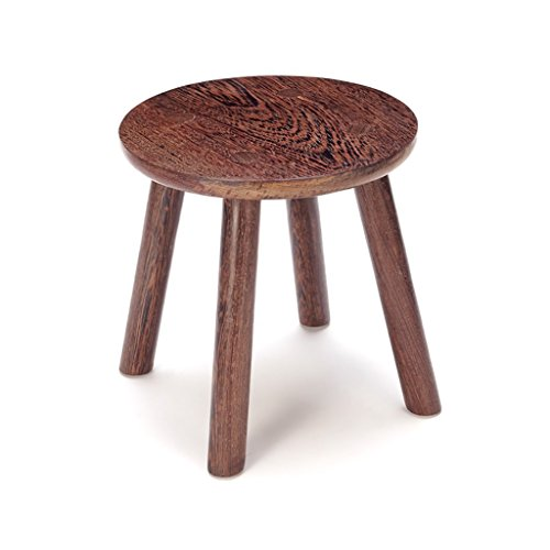 AIDELAI Bar Stool Chair- Chicken Wings Wood Copper Feet Small Round Stool Mahogany Home Garden Table Stool Children Modern Minimalist Bench Solid Wood Saddle Seat (Size : #2)