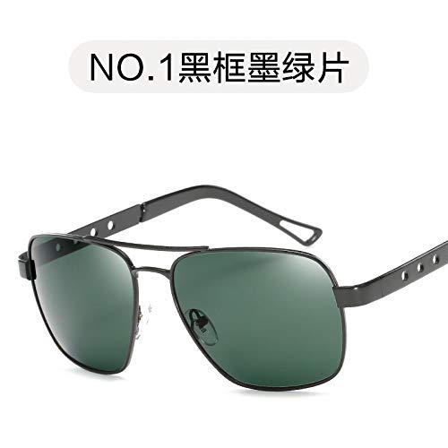de conducción los Conductor Moda Metal de de de Sol Moda la Gafas Hombres Espejo Arma de Marco del Película Espejo del del Retro Sol Oscuro polarizadas dark green Verde Gafas de de frame Black Burenqiq q5ORUHg