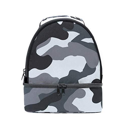 con de de escuela correa camuflaje Bolsa ajustable almuerzo para para de térmica la pincnic el Alinlo hombro diseño con HYwqq