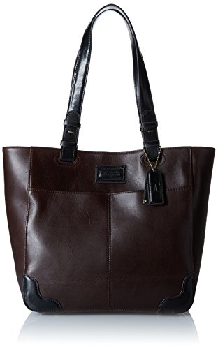 tignanello-western-vintage-leather-tote-bag-brown-black
