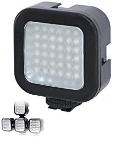 On-Camera LED Video Light For Canon, Nikon, Sony, Samsung, Fujifilm, Fuji, Olympus, Panasonic, Pentax Digital SLR Camera and Video Camcorder