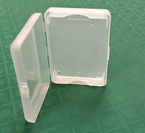 (3) Transparent Plastic One Deck Holder Case Poker Size Playing Cards