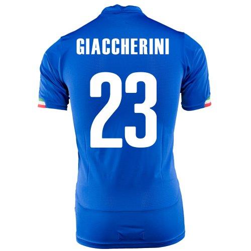 鳴らす不機嫌そうな資料PUMA GIACCHERINI #23 ITALY HOME JERSEY WORLD CUP 2014/サッカーユニフォーム イタリア代表 ホーム用 ワールドカップ2014 背番号23 ジャッケリーニ
