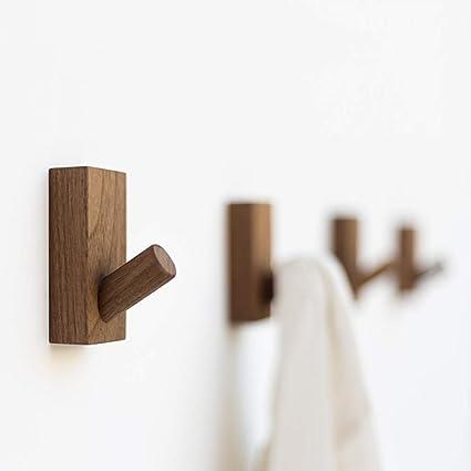 Barnwood 3 ganci moderni 34 cm Legno Appendiabiti da parete Basics Legno Confezione da 2