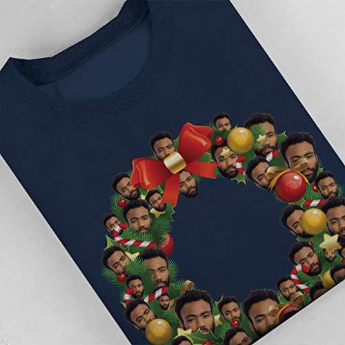 Coto7 Sweatshirt Women's Multi Wreath Blue Glover Donald Christmas Navy 4r64qwCAp