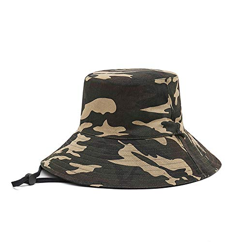 LDDENDP Fisherman Hat Men's And Women's Waterproof Sunscreen Cap Plastic Regulator Outdoor Travel Camouflage Double-sided Folding Basin Cap 100% Cotton Casual Flat Top Fisherman Hat Fashion Casual Tra