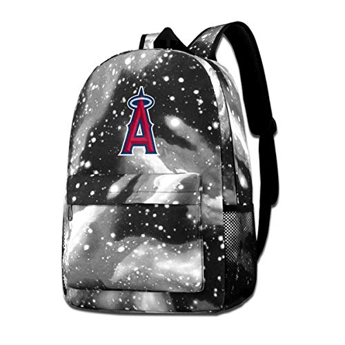 - Baseball Fan Los A-ngeles Angels Of Anaheim Fans Travel Backpack Camping Outdoor Bag Starry Sky Daypack For Teen And Adult