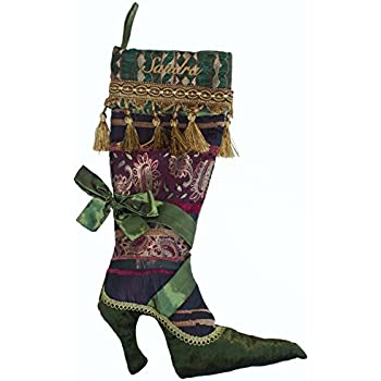 Amazon Com Ho Ho Ho S High Heel Shoe Christmas Stocking Holiday