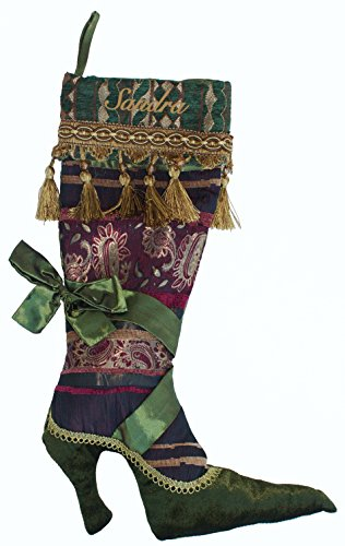 Personalized Victorian Shoe Christmas Stocking